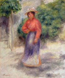 Gabrielle in the garden, c.1905 ? by Pierre-Auguste Renoir