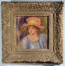 Woman with a hat, c.1915-19 ? by Pierre-Auguste Renoir