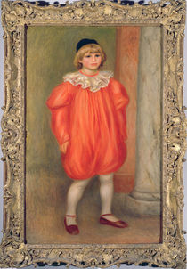 Claude Renoir in a clown costume by Pierre-Auguste Renoir