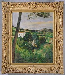 Landscape with red roof or The pine at the Estaque by Paul Cezanne