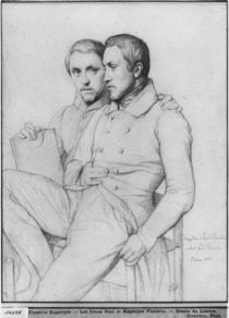 Double portrait of Hippolyte and Paul Flandrin by Hippolyte Flandrin
