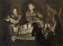 Philosopher giving a lecture on the orrery by Joseph Wright of Derby