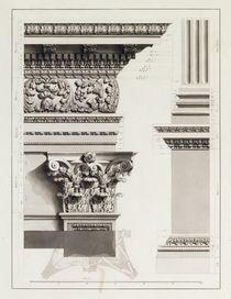 Elevation of Pedestal Entablature of the Arch at Tripoli von James Bruce