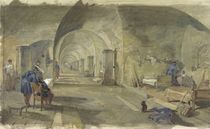 Interior of Fort Nicholas, Sebastopol, Crimea by William 'Crimea' Simpson