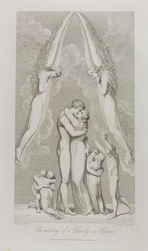 The Meeting of a Family in Heaven von William Blake