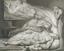 Death of the Strong Wicked Man von William Blake