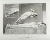 The soul hovering over the body reluctantly parting with life von William Blake