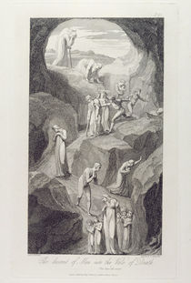 The Descent of Man into the Vale of Death by William Blake