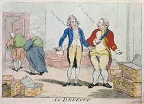 Le Deficit, 1788 by Isaac Cruikshank