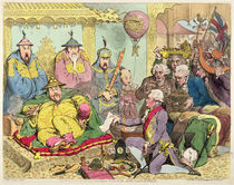 Reception of the Diplomatique and his Suite at the Court of Pekin von James Gillray