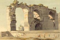 The Claudian Aqueduct, Rome von Francis Towne