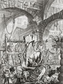The Man on the Rack, plate II from 'Carceri d'Invenzione' von Giovanni Battista Piranesi