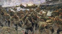 The bayonet fighting, 1904 von Pyotr Pavlovich Karyagin
