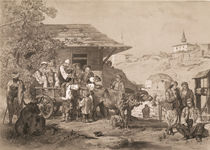 Bulgarians near Varna, printed by Lemercier by Jules Joseph Augustin Laurens