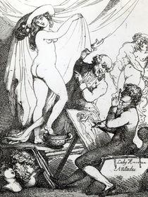 Lady Hamilton's Attitudes, c.1790 by Thomas Rowlandson