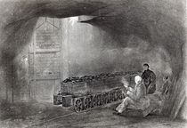 In the Coal Mine, Illustration from 'A History of Coal by English School