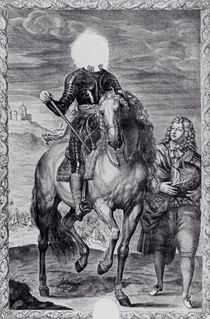 Defaced equestrian portrait of Charles I by Anthony van Dyck