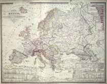 Map of Europe, 1841 von German School