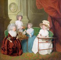 Lady Jane Mathew and her Daughters von English School