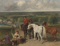 Exercising the royal horses by John Frederick Herring Snr