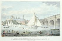 View of Westminster and the Bridge von English School