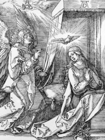 The Annunciation from the 'Small Passion' series by Albrecht Dürer