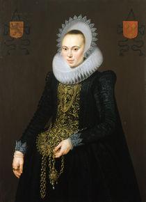 Portrait of Justina van Teylingen by Cornelis van der Voort