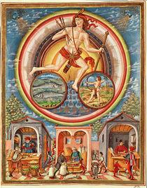 Ms Lat 209 fol.6v Jupiter, from 'De Sphaera', c.1470 von Cristoforo De Predis