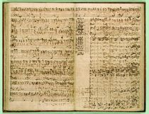 Pages from Score of the 'St Matthew Passion' by Johann Sebastian Bach