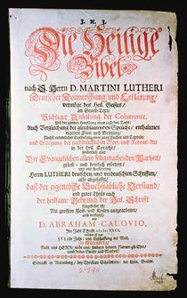 The Holy Bible, Vol. I., 1681 by German School