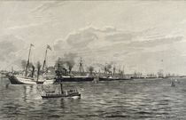 The Naval Review in Kiel on the 3rd September 1890 by Richard Huenten