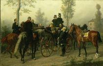 Napoleon III and Bismarck after the Battle of Sedan von Wilhelm Camphausen