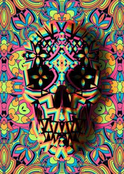 Skull-geo-50x70