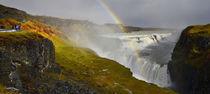 A rainbow over Gullfoss.  von chris-drabble