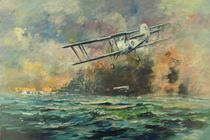 Fairey Swordfish aircraft and Bismarck by Geoff Amos