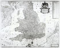 A New Map of the Kingdom of England and the Principalitie of Wales von William Berry