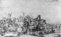 A Cavalry Battle von Jacques Courtois