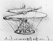 Detail of a design for a flying machine von Leonardo Da Vinci