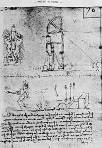 Suggestions on how to construct a bastion at night von Leonardo Da Vinci