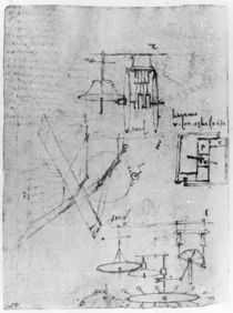 Fol. 45r, from the Codex Forster III von Leonardo Da Vinci