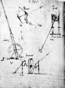 A page from the Codex Forster von Leonardo Da Vinci