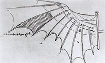 M S B 2173 fol. 74r Studies of wing articulation von Leonardo Da Vinci