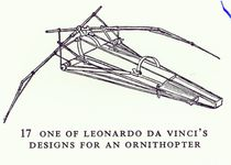 One of Leonardo da Vinci's designs for an Ornithopter by Leonardo Da Vinci