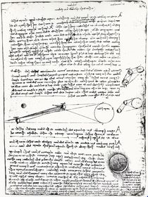 Astronomical diagrams, fol. 2r from the Codex Leicester von Leonardo Da Vinci