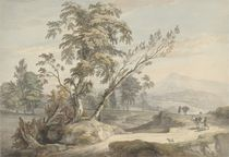 Italianate Landscape with Travellers no.2 von Paul Sandby