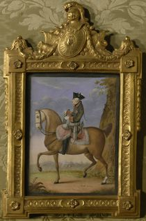 Frederick II on horseback by Daniel Nikolaus Chodowiecki