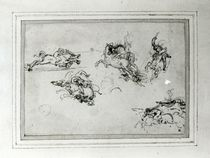 Study of Horsemen in Combat by Leonardo Da Vinci