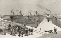 Visit of the Viceroy of India to the Sassoon Dock at Bombay by English School