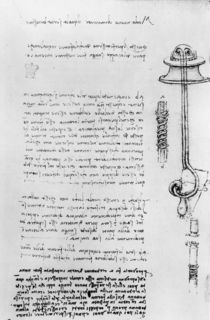Study of a floater with breathing tubes for a diver von Leonardo Da Vinci