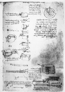 Facsimile of a page from the Codex Arundel von Leonardo Da Vinci